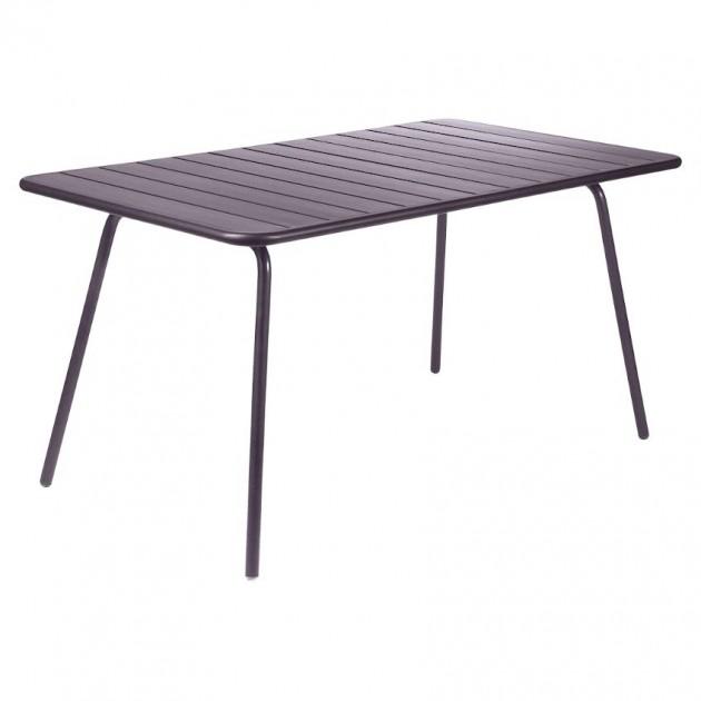 На фото: Обідній стіл Luxembourg 4133 Plum (413344), Стіл Luxembourg 143x80 Fermob, каталог, ціна