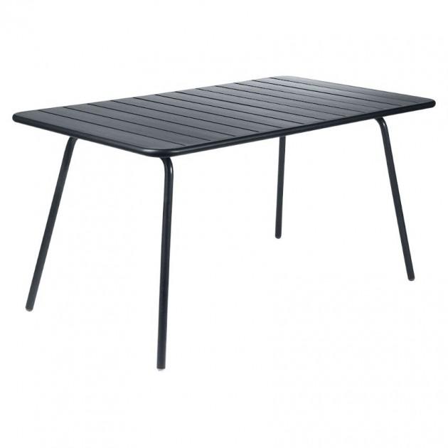 На фото: Обідній стіл Luxembourg 4133 Anthracite (413347), Стіл Luxembourg 143x80 Fermob, каталог, ціна