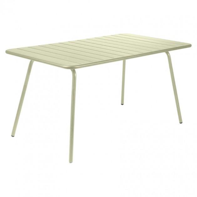 На фото: Обідній стіл Luxembourg 4133 Willow Green (413365), Стіл Luxembourg 143x80 Fermob, каталог, ціна