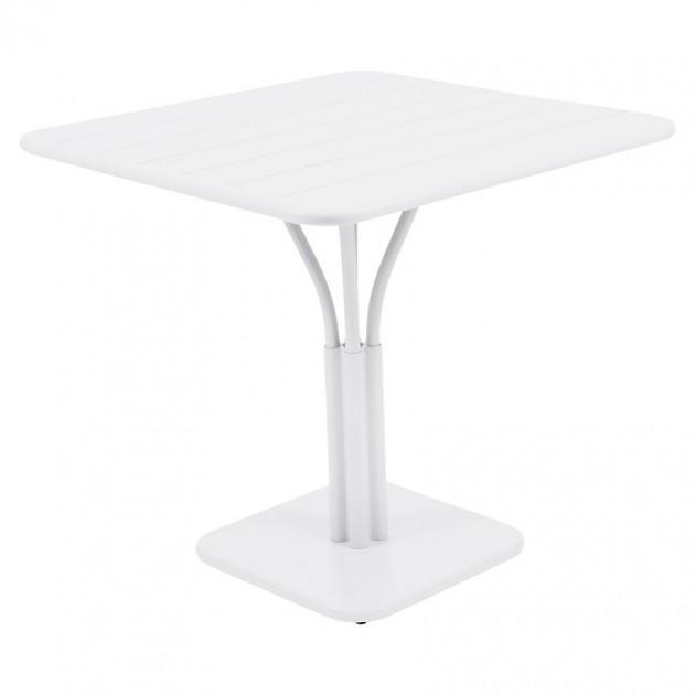 На фото: Стіл Luxembourg 4134 Cotton White (413401), Стіл на центральній опорі Luxembourg Fermob, каталог, ціна