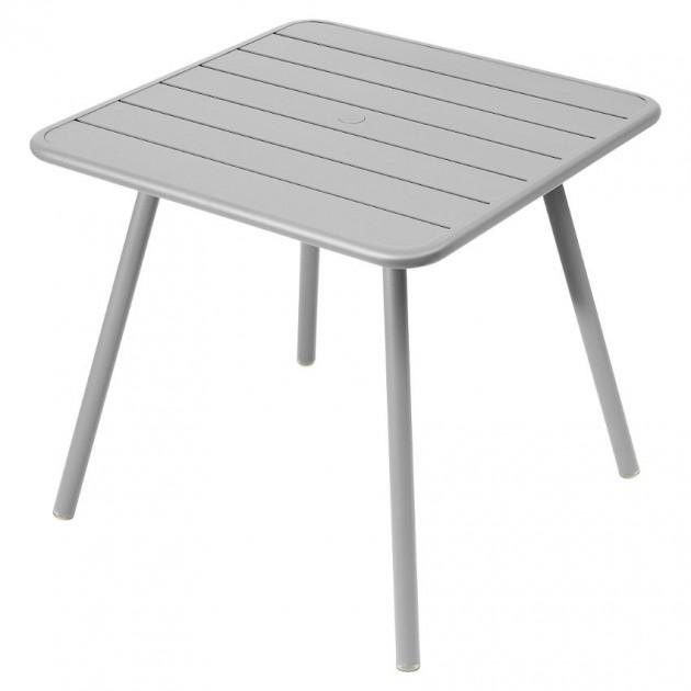 На фото: Стіл Luxembourg 4135 Steel Grey (413538), Стіл Luxembourg 80x80 Fermob, каталог, ціна