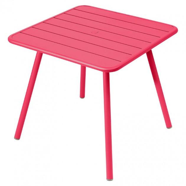На фото: Стіл Luxembourg 4135 Pink Praline (413593), Стіл Luxembourg 80x80 Fermob, каталог, ціна
