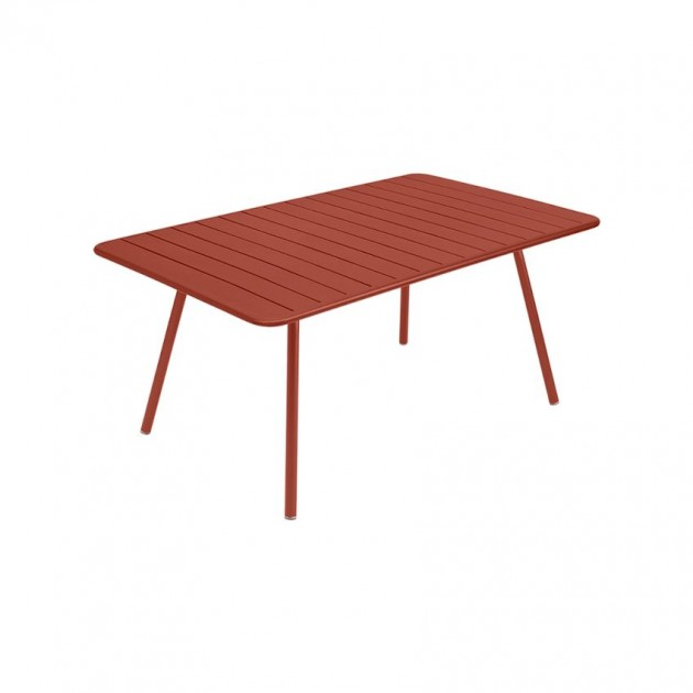 На фото: Обідній стіл Luxembourg 4136 Red Ochre (413620), Стіл Luxembourg 165x100 Fermob, каталог, ціна