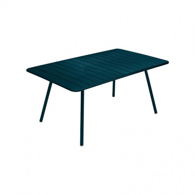 На фото: Обідній стіл Luxembourg 4136 Acapulco Blue (413621), Стіл Luxembourg 165x100 Fermob, каталог, ціна