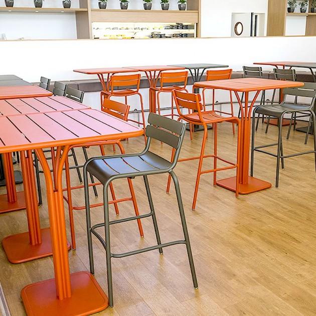 На фото: Барний стіл Luxembourg 4140 Cactus (414082), Барний стіл на центральній опорі Luxembourg Fermob, каталог, ціна