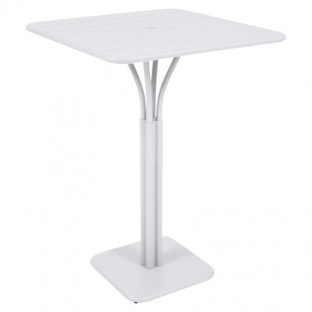 На фото: Барний стіл Luxembourg 4140 Cotton White (414001), Барний стіл на центральній опорі Luxembourg Fermob, каталог, ціна