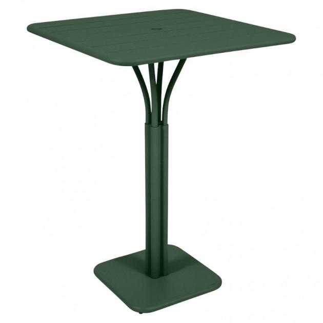 На фото: Барний стіл Luxembourg 4140 Cedar Green (414002), Барний стіл на центральній опорі Luxembourg Fermob, каталог, ціна