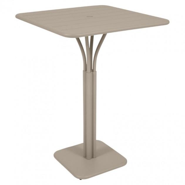 На фото: Барний стіл Luxembourg 4140 Nutmeg (414014), Барний стіл на центральній опорі Luxembourg Fermob, каталог, ціна