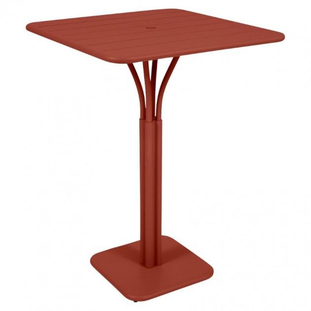 На фото: Барний стіл Luxembourg 4140 Red Ochre (414020), Барний стіл на центральній опорі Luxembourg Fermob, каталог, ціна