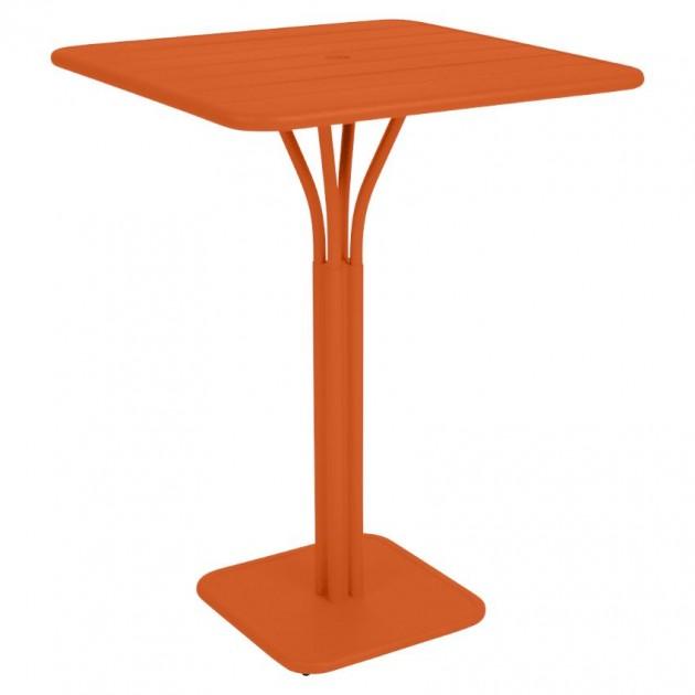 На фото: Барний стіл Luxembourg 4140 Carrot (414027), Барний стіл на центральній опорі Luxembourg Fermob, каталог, ціна