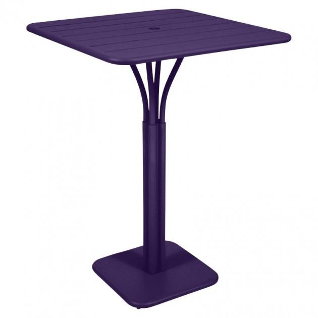 На фото: Барний стіл Luxembourg 4140 Aubergine (414028), Барний стіл на центральній опорі Luxembourg Fermob, каталог, ціна