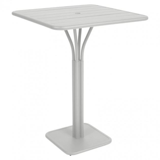 На фото: Барний стіл Luxembourg 4140 Steel Grey (414038), Барний стіл на центральній опорі Luxembourg Fermob, каталог, ціна
