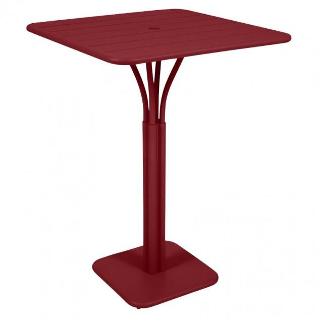 На фото: Барний стіл Luxembourg 4140 Chili (414043), Барний стіл на центральній опорі Luxembourg Fermob, каталог, ціна
