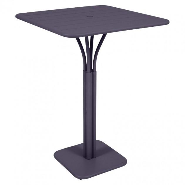 На фото: Барний стіл Luxembourg 4140 Plum (414044), Барний стіл на центральній опорі Luxembourg Fermob, каталог, ціна