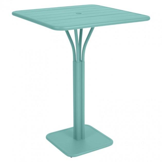 На фото: Барний стіл Luxembourg 4140 Lagoon Blue (414046), Барний стіл на центральній опорі Luxembourg Fermob, каталог, ціна