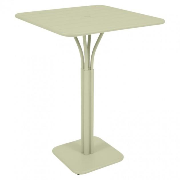 На фото: Барний стіл Luxembourg 4140 Willow Green (414065), Барний стіл на центральній опорі Luxembourg Fermob, каталог, ціна