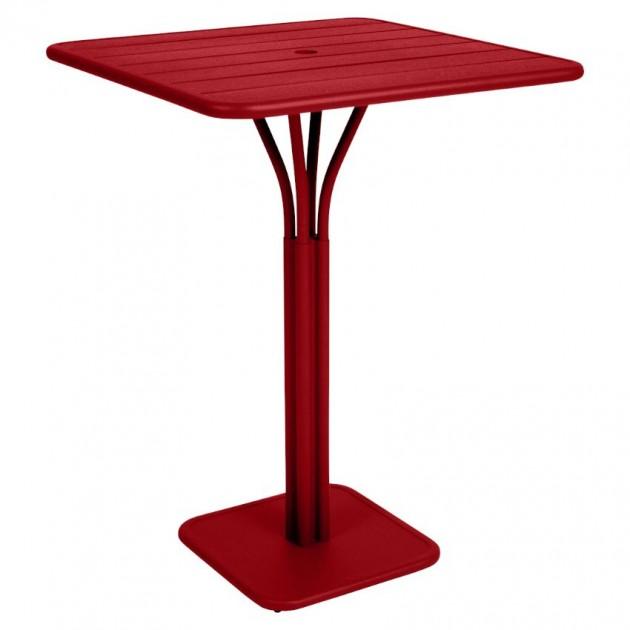 На фото: Барний стіл Luxembourg 4140 Poppy (414067), Барний стіл на центральній опорі Luxembourg Fermob, каталог, ціна