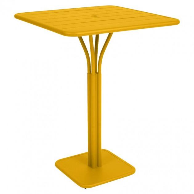 На фото: Барний стіл Luxembourg 4140 Honey (414073), Барний стіл на центральній опорі Luxembourg Fermob, каталог, ціна