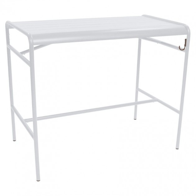 На фото: Барний стіл Luxembourg 4141 Cotton White (414101), Барний стіл Luxembourg 126x73 Fermob, каталог, ціна