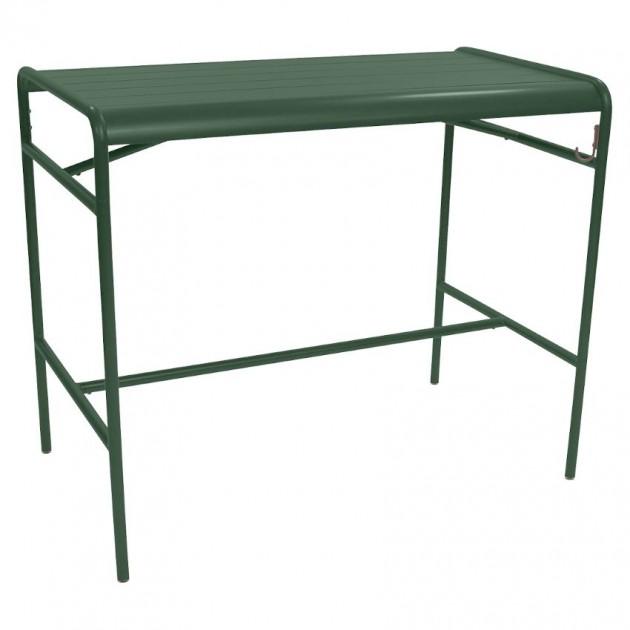 На фото: Барний стіл Luxembourg 4141 Cedar Green (414102), Барний стіл Luxembourg 126x73 Fermob, каталог, ціна