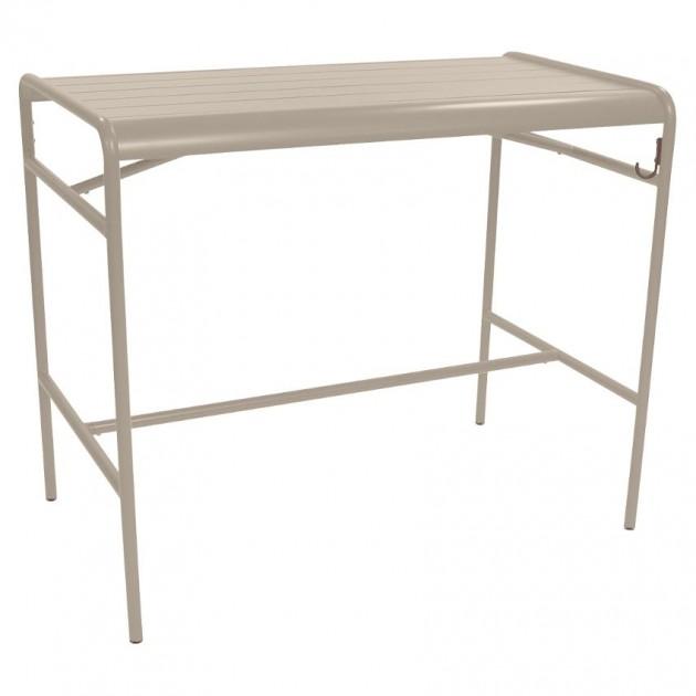 На фото: Барний стіл Luxembourg 4141 Nutmeg (414114), Барний стіл Luxembourg 126x73 Fermob, каталог, ціна