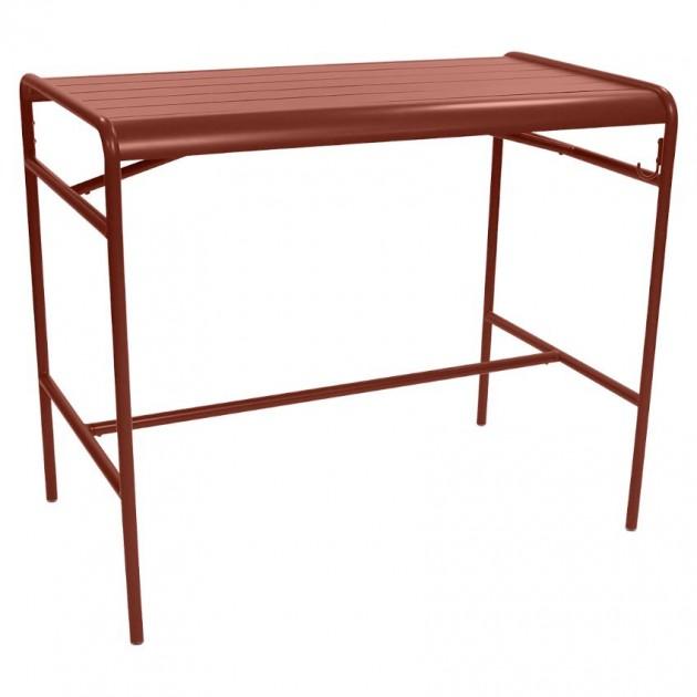 На фото: Барний стіл Luxembourg 4141 Red Ochre (414120), Барні столи Fermob, каталог, ціна