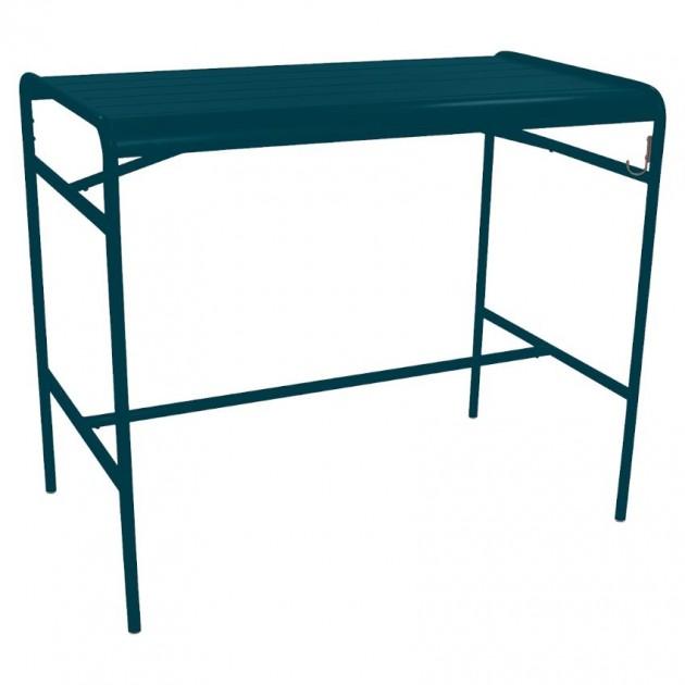 На фото: Барний стіл Luxembourg 4141 Acapulco Blue (414121), Барний стіл Luxembourg 126x73 Fermob, каталог, ціна