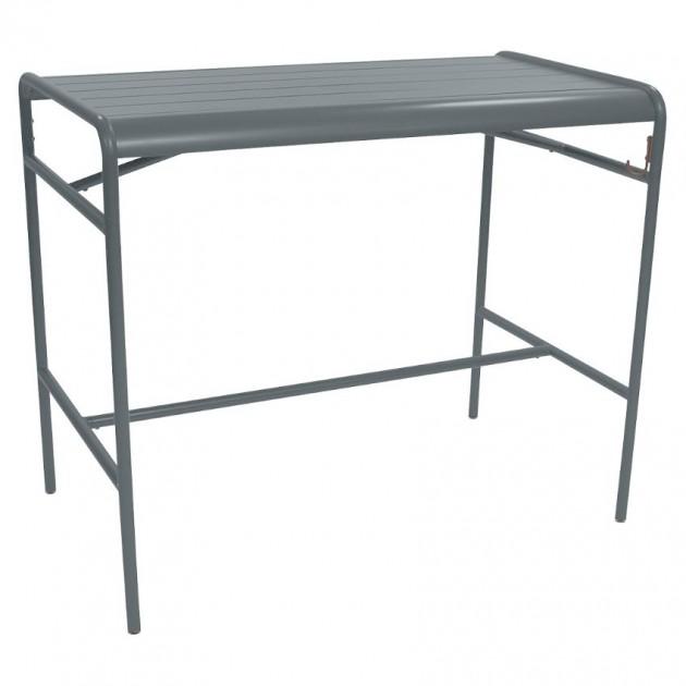 На фото: Барний стіл Luxembourg 4141 Storm Grey (414126), Барний стіл Luxembourg 126x73 Fermob, каталог, ціна