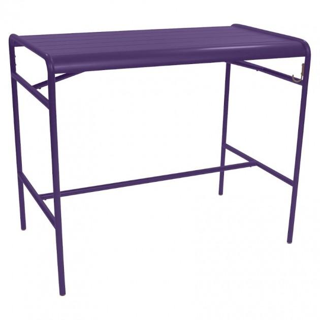 На фото: Барний стіл Luxembourg 4141 Aubergine (414128), Барний стіл Luxembourg 126x73 Fermob, каталог, ціна