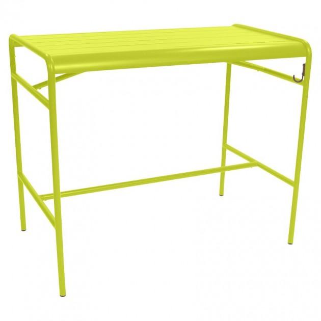 На фото: Барний стіл Luxembourg 4141 Verbena (414129), Барний стіл Luxembourg 126x73 Fermob, каталог, ціна