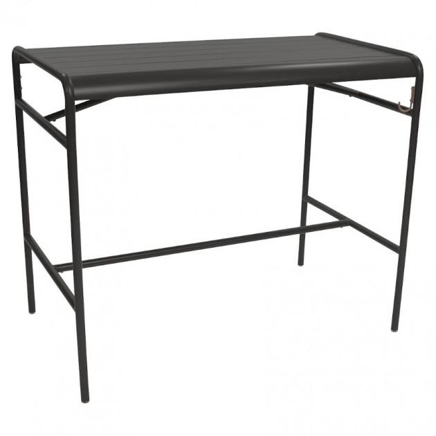 На фото: Барний стіл Luxembourg 4141 Liquorice (414142), Барний стіл Luxembourg 126x73 Fermob, каталог, ціна