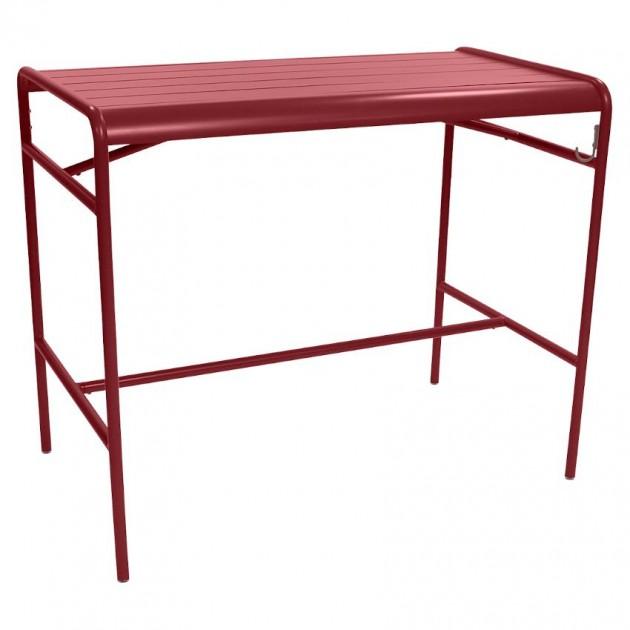 На фото: Барний стіл Luxembourg 4141 Chili (414143), Барний стіл Luxembourg 126x73 Fermob, каталог, ціна