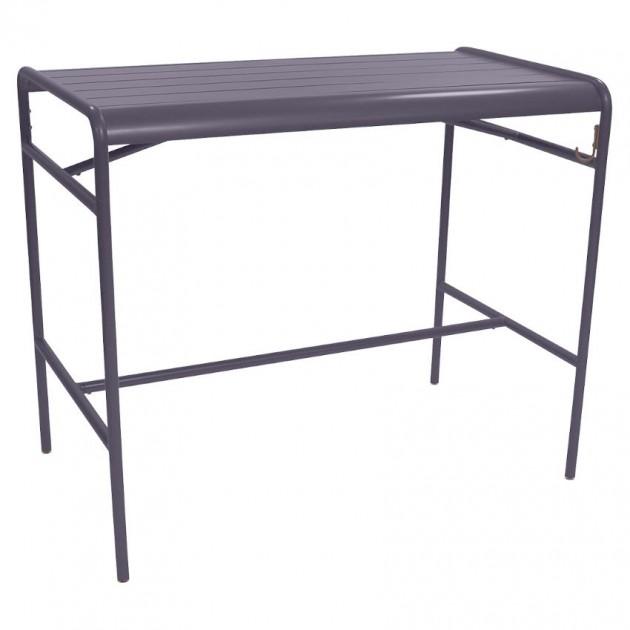 На фото: Барний стіл Luxembourg 4141 Plum (414144), Барний стіл Luxembourg 126x73 Fermob, каталог, ціна