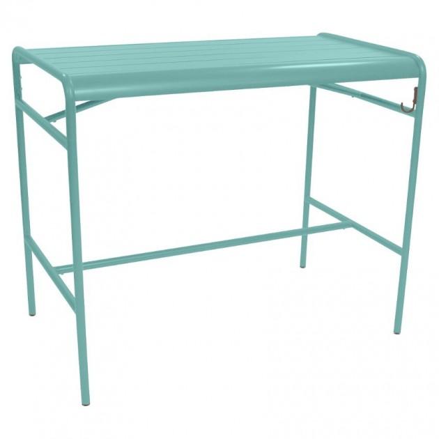 На фото: Барний стіл Luxembourg 4141 Lagoon Blue (414146), Барний стіл Luxembourg 126x73 Fermob, каталог, ціна