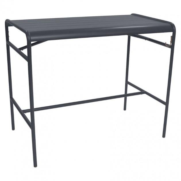 На фото: Барний стіл Luxembourg 4141 Anthracite (414147), Барний стіл Luxembourg 126x73 Fermob, каталог, ціна