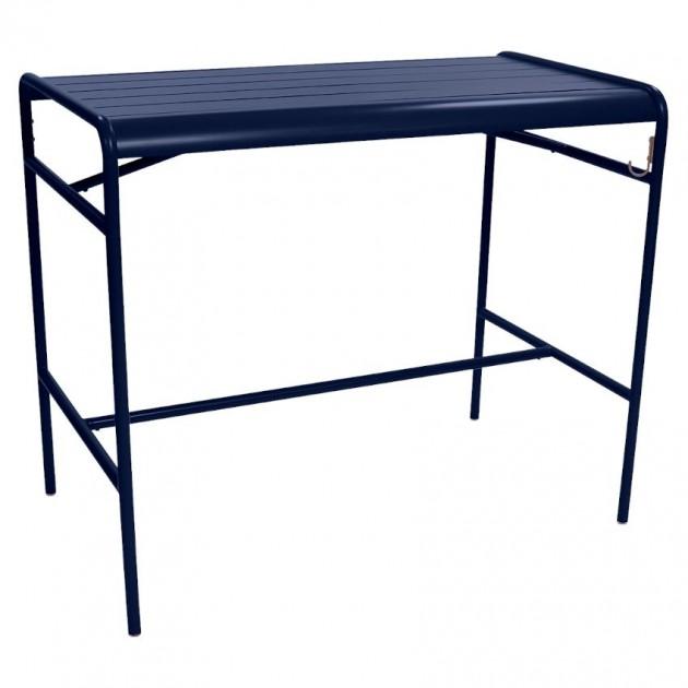 На фото: Барний стіл Luxembourg 4141 Deep Blue (414192), Барний стіл Luxembourg 126x73 Fermob, каталог, ціна