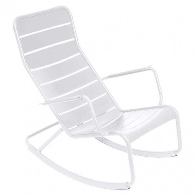 На фото: Крісло-гойдалка Luxembourg 4166 Cotton White (416601), Крісло-гойдалка Luxembourg Fermob, каталог, ціна