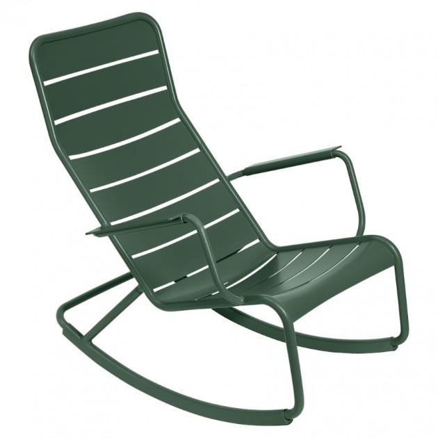 На фото: Крісло-гойдалка Luxembourg 4166 Cedar Green (416602), Вуличні крісла-гойдалки Fermob, каталог, ціна