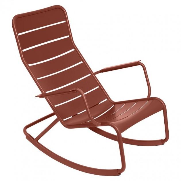 На фото: Крісло-гойдалка Luxembourg 4166 Red Ochre (416620), Крісло-гойдалка Luxembourg Fermob, каталог, ціна