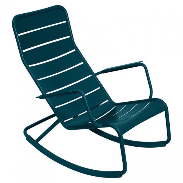 На фото: Крісло-гойдалка Luxembourg 4166 Acapulco Blue (416621), Крісло-гойдалка Luxembourg Fermob, каталог, ціна