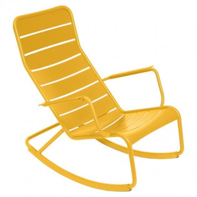 На фото: Крісло-гойдалка Luxembourg 4166 Honey (416673), Вуличні крісла-гойдалки Fermob, каталог, ціна