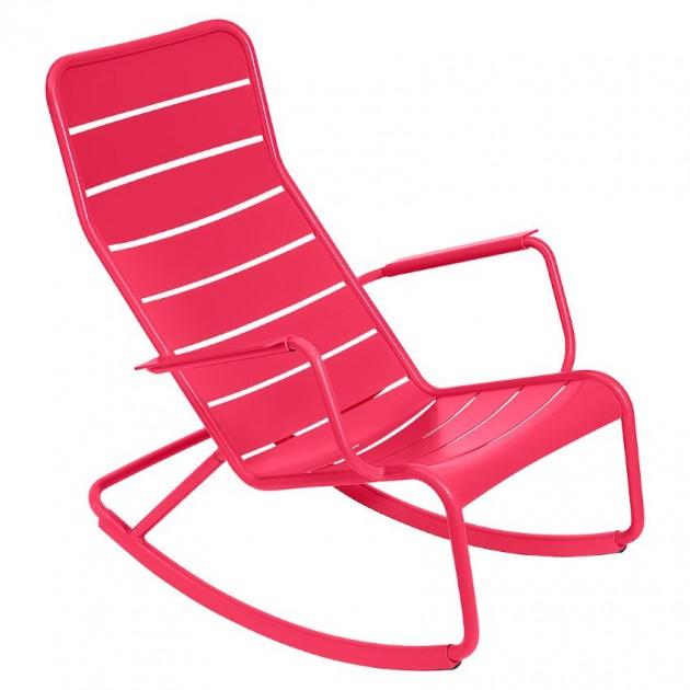 На фото: Крісло-гойдалка Luxembourg 4166 Pink Praline (416693), Вуличні крісла-гойдалки Fermob, каталог, ціна