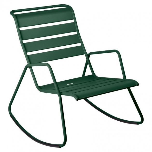 На фото: Крісло-гойдалка Monceau 4806 Cedar Green (480602), Крісло-гойдалка Monceau Fermob, каталог, ціна