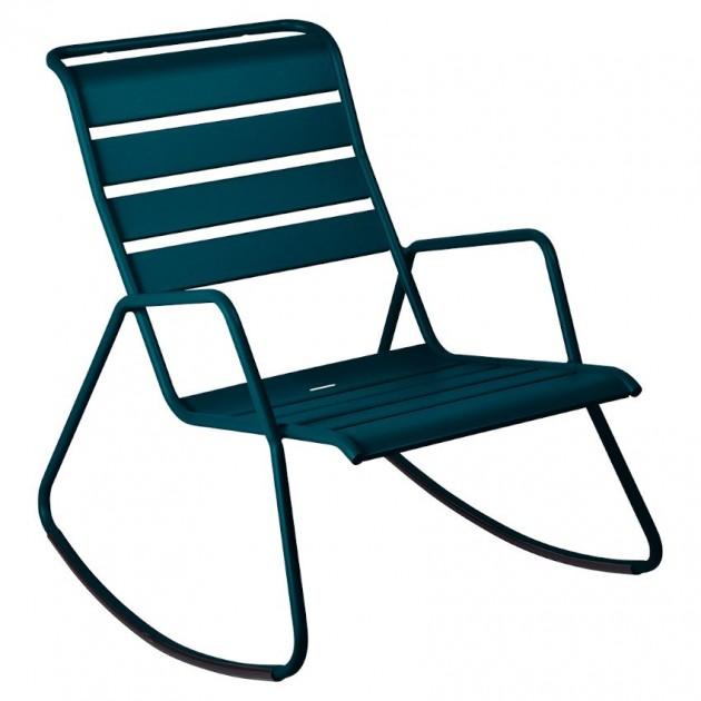На фото: Крісло-гойдалка Monceau 4806 Acapulco Blue (480621), Вуличні крісла-гойдалки Fermob, каталог, ціна