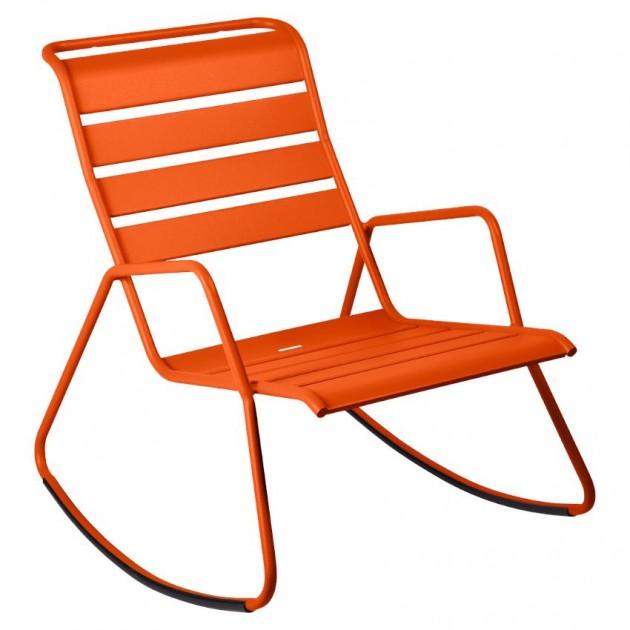 На фото: Крісло-гойдалка Monceau 4806 Carrot (480627), Крісло-гойдалка Monceau Fermob, каталог, ціна