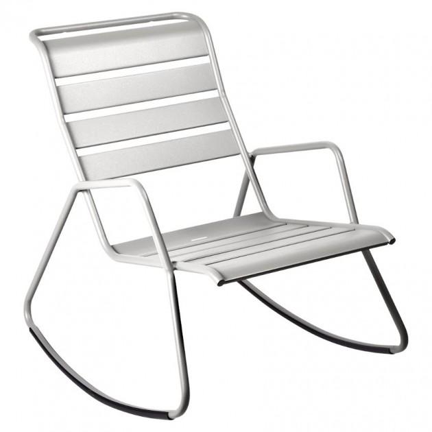 На фото: Крісло-гойдалка Monceau 4806 Steel Grey (480638), Крісло-гойдалка Monceau Fermob, каталог, ціна