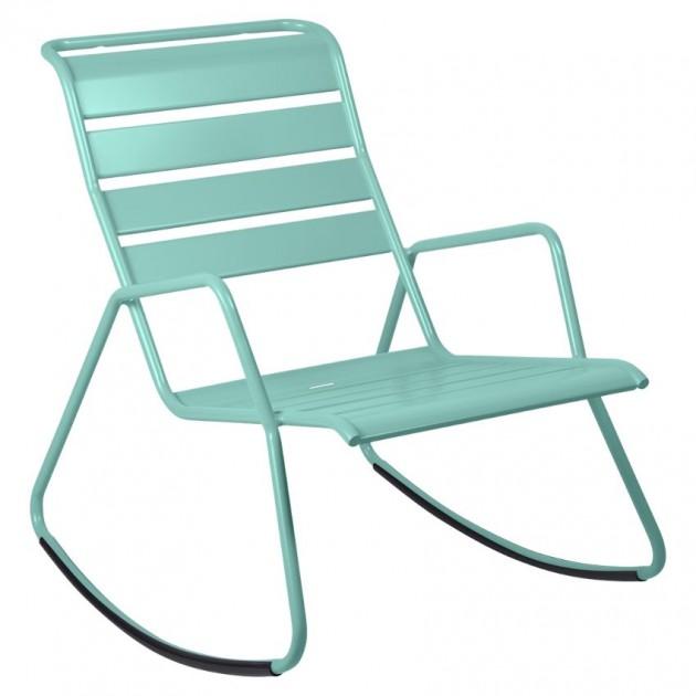 На фото: Крісло-гойдалка Monceau 4806 Lagoon Blue (480646), Крісло-гойдалка Monceau Fermob, каталог, ціна