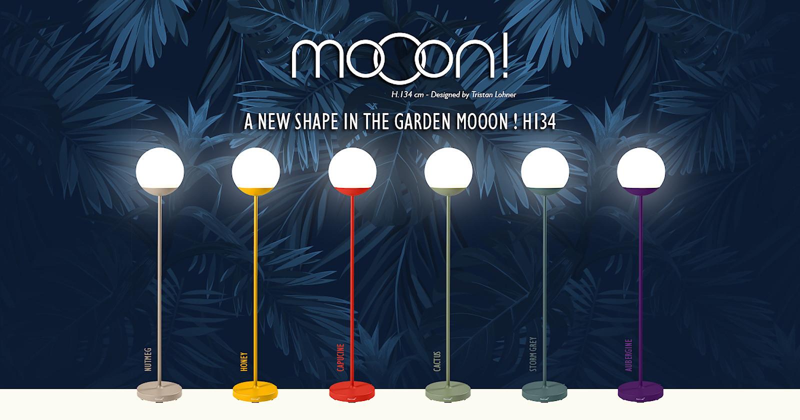 Колекція вуличних підлогових світильників Mooon! h134 з вбудованим bluetooth від Fermob