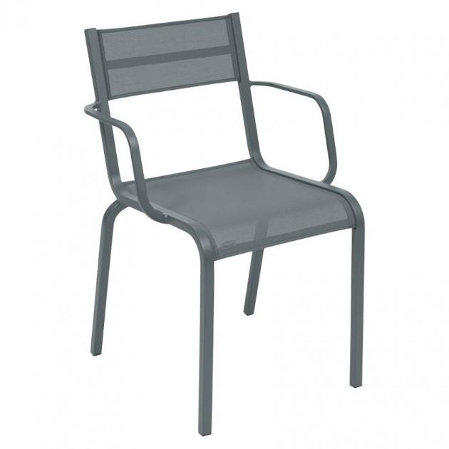 На фото: Cтілець Oléron 5502 Storm Grey (550226), Стільці з текстилену Fermob, каталог, ціна