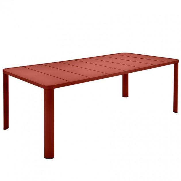 На фото: Обідній стіл Oléron 5531 Red Ochre (553120), Стіл Oléron 205х100 Fermob, каталог, ціна
